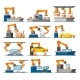 Automation Industrial Process Elements Set - GraphicRiver Item for Sale