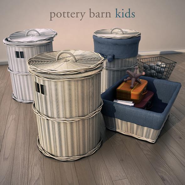 PotteryBarn - Basket2 - 3DOcean Item for Sale