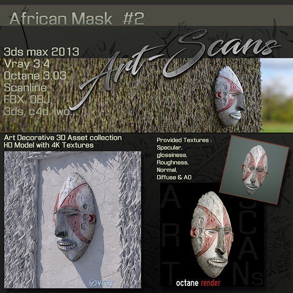 Art Scans African Mask #2 - 3DOcean Item for Sale