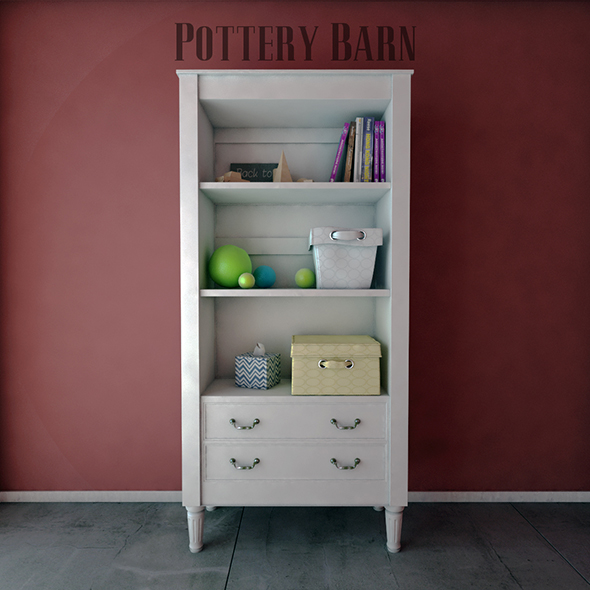 Pottery Barn Kids Bookcases - 3DOcean Item for Sale