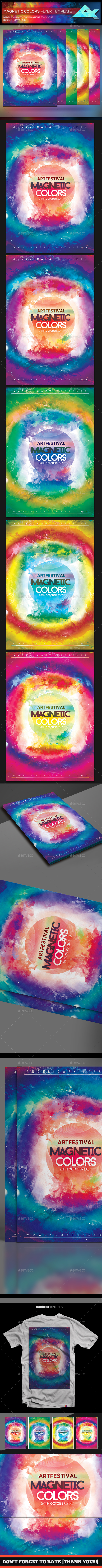 Magnetic Colors Flyer Template - Flyers Print Templates
