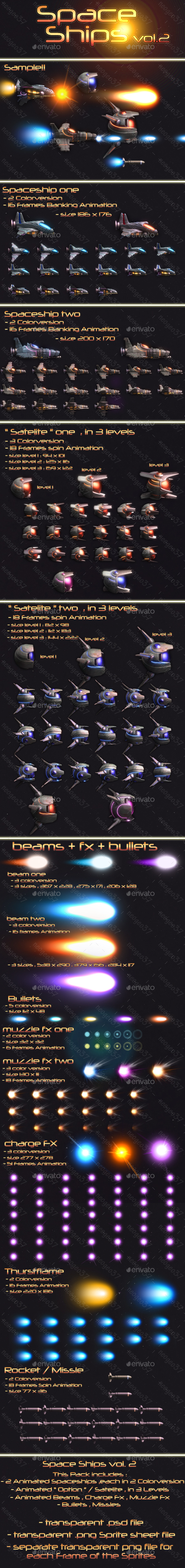 Spaceships Vol.2 - Sprites Game Assets