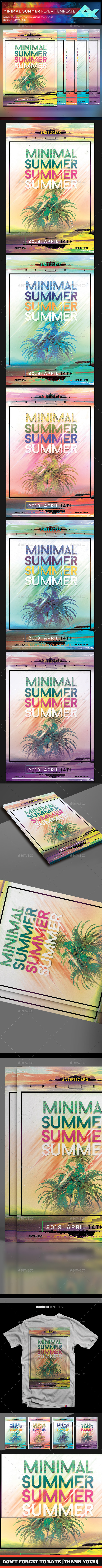 Minimal Summer Flyer Template - Flyers Print Templates