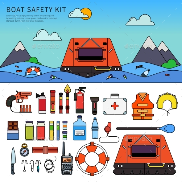 Equipment for Safety in the Sea - Health/Medicine Conceptual