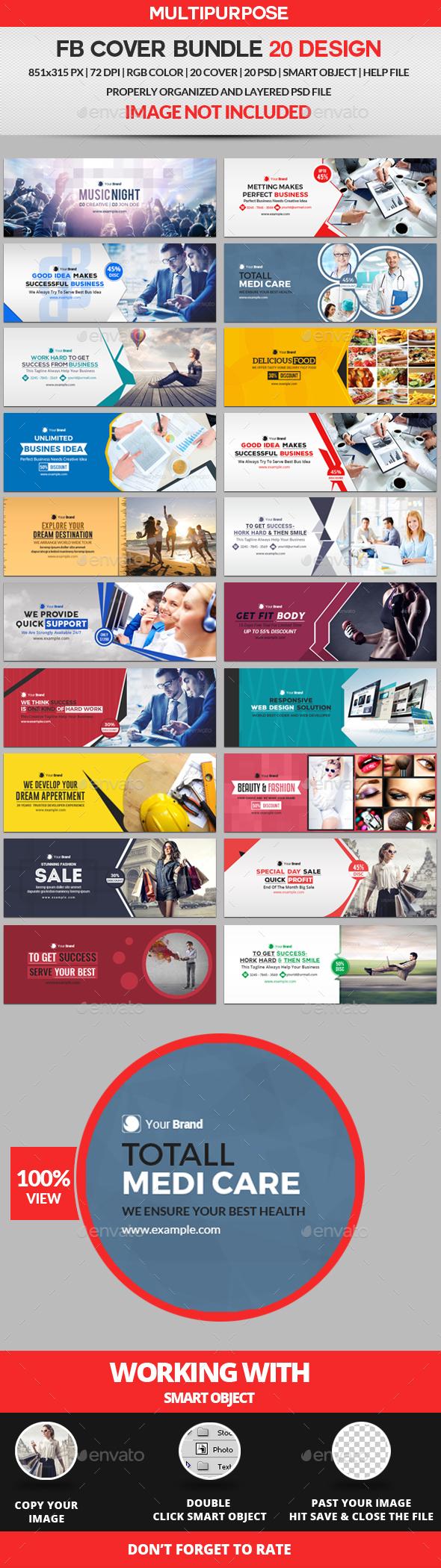 Facebook Cover Bundle Two - 20 Design - Facebook Timeline Covers Social Media