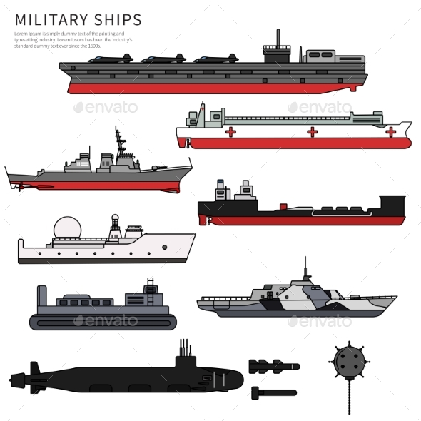 Military Ships - Man-made Objects Objects