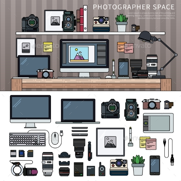Work Space for Photographer - Computers Technology
