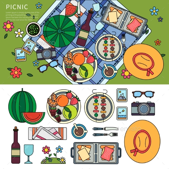 Summer Picnic in the Park - Food Objects