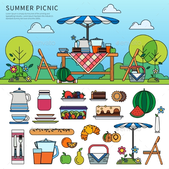 Summer Picnic in a Sunny Day - Seasons Nature