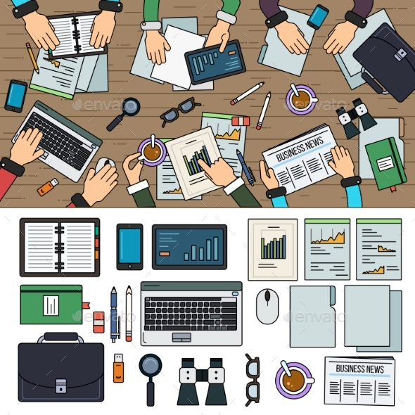 Teamwork in the Office - Concepts Business