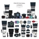 Professional Photo Cameras - GraphicRiver Item for Sale