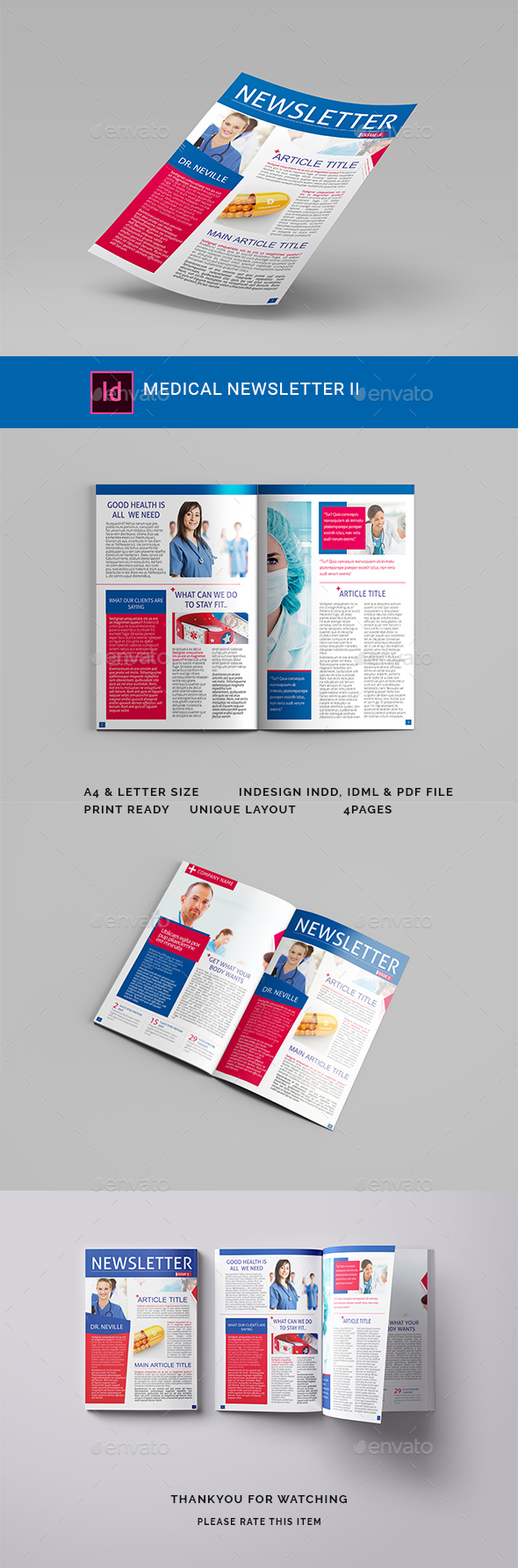 Medical Newsletter II - Newsletters Print Templates