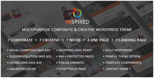 Inspired - Multipurpose Corporate and Creative Bootstrap WordPress Theme - Business Corporate