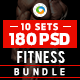 Fitness Banners Bundle - 10 Sets - 180 Banners