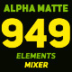 Shape Elements Mixer Alpha Matte - VideoHive Item for Sale