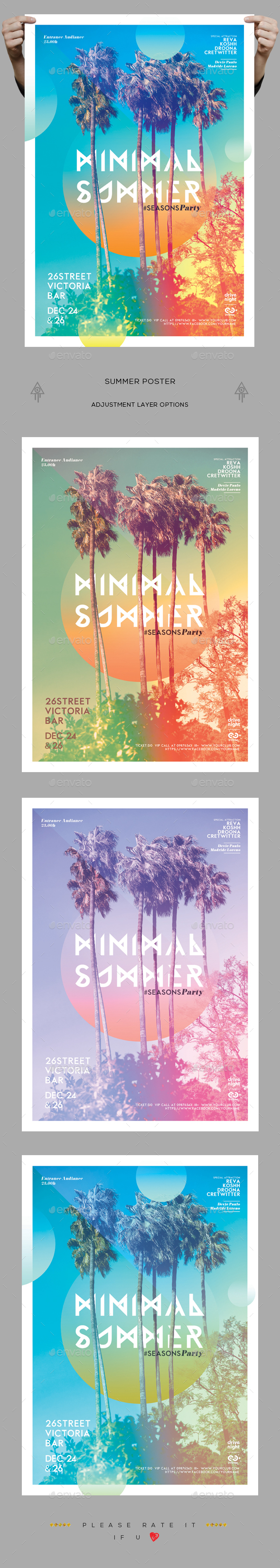 Minimal Summer Poster - Clubs & Parties Events