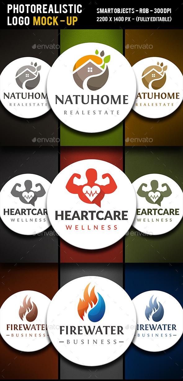 Logo Corporative Colors Mock Up - Logo Product Mock-Ups
