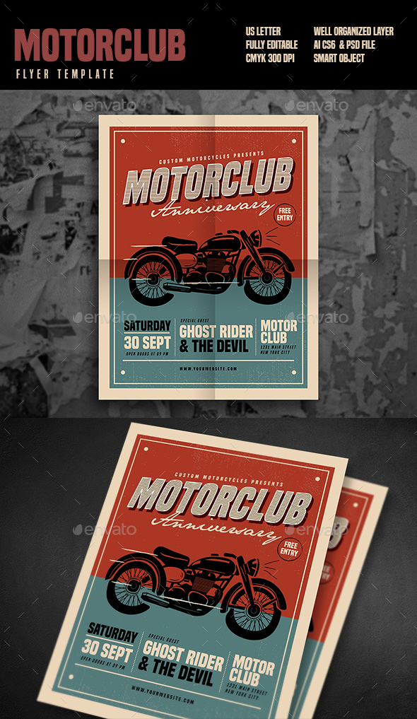 Motorclub Event Flyer - Events Flyers