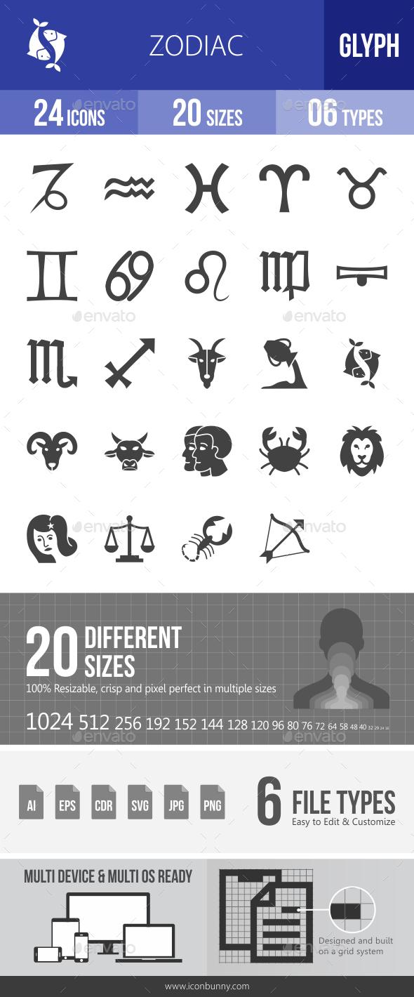 Zodiac Glyph Icons - Icons