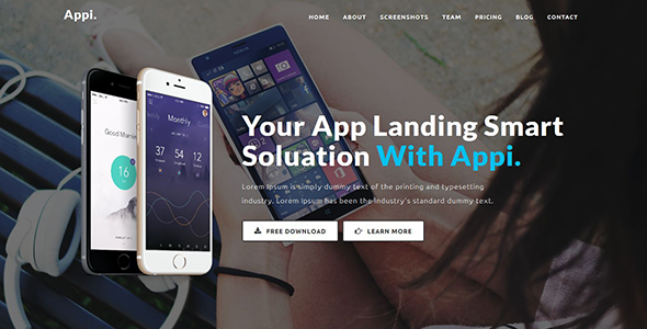 Appi – Responsive App Landing Page