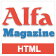AlfaMagazine - Bootstrap HTML news & magazine template Nulled