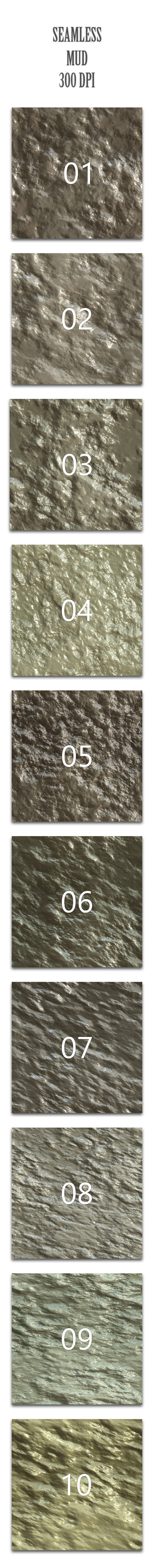 Seamless Mud - Nature Textures / Fills / Patterns