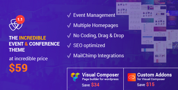 Eventia - Conference & Event Responsive WordPress Theme - Events Entertainment
