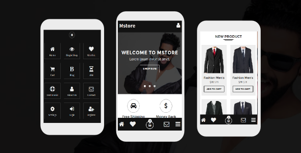 Mstore - Online Shop Mobile Template - Mobile Site Templates
