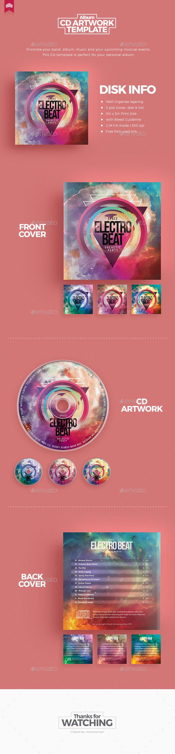 Electro Beat - Cd Artwork - CD & DVD Artwork Print Templates