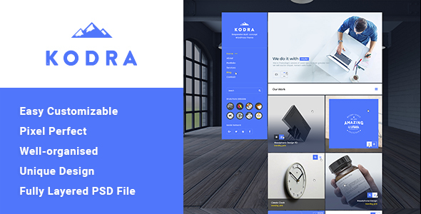 Kodra – Single Page PSD Template