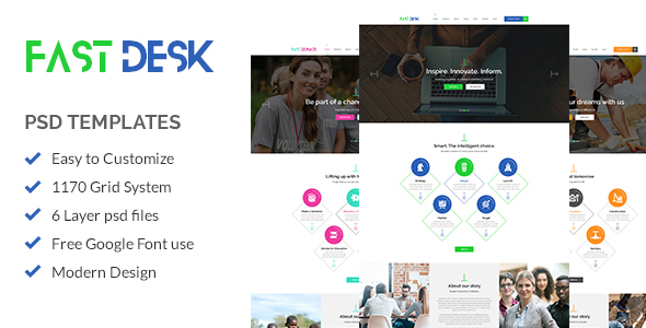 Fast Desk - Office, Food, Charity and Industry Psd Templates - Business Corporate