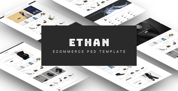 ETHAN – Ecommerce PSD Template