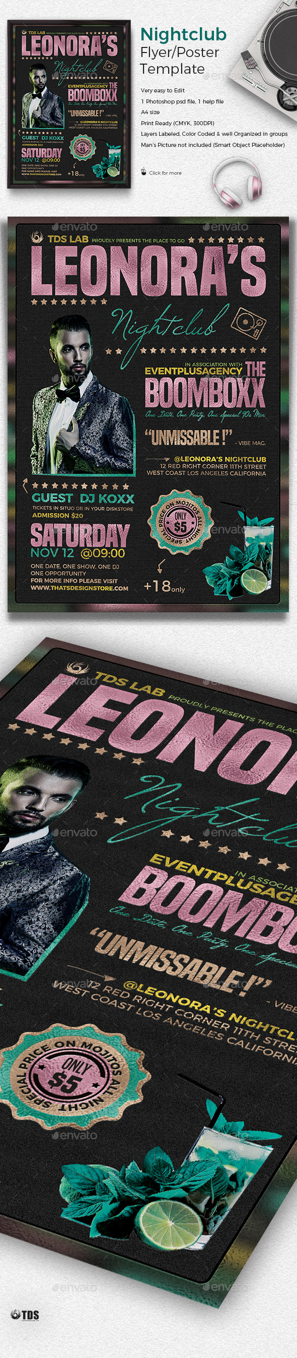 Nightclub Promotion Flyer Template - Clubs & Parties Events