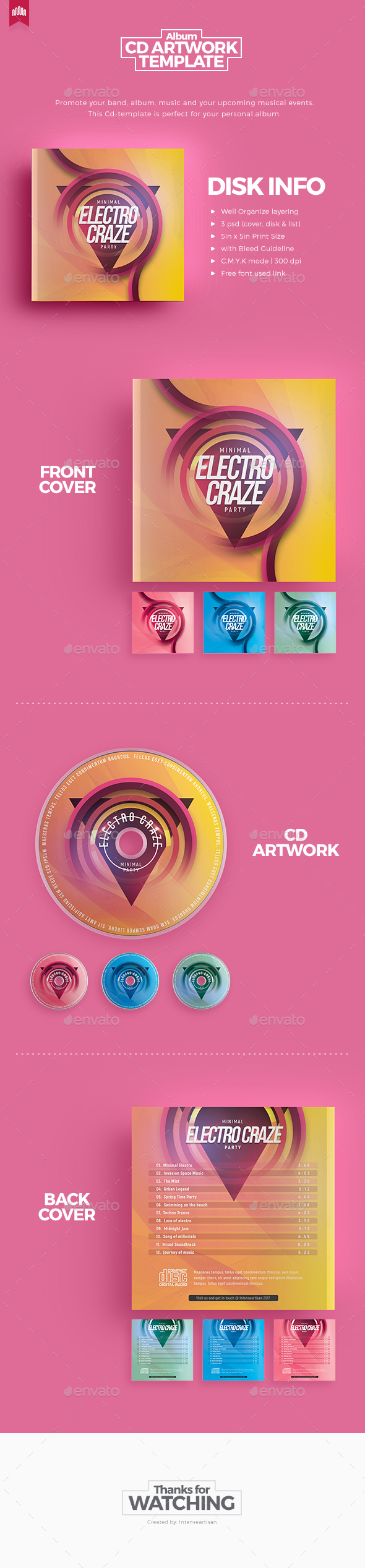 Electro Craze - Cd Artwork - CD & DVD Artwork Print Templates