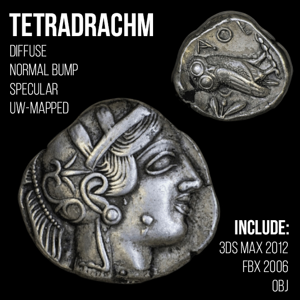 Tetradrachm - 3DOcean Item for Sale