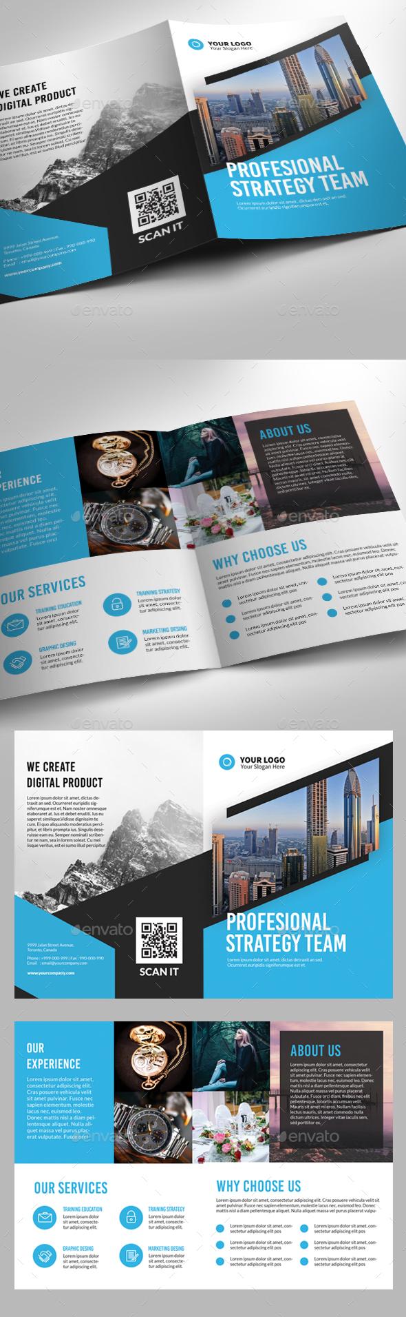 Multipurpose Blue Theme Bifold - Corporate Brochures