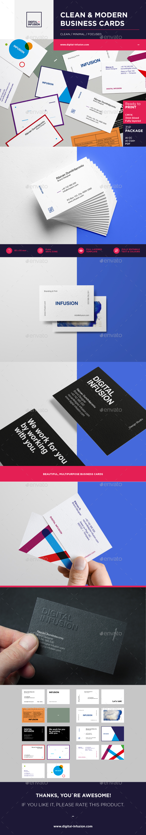 Clean & Modern Business Cards - Creative Business Cards