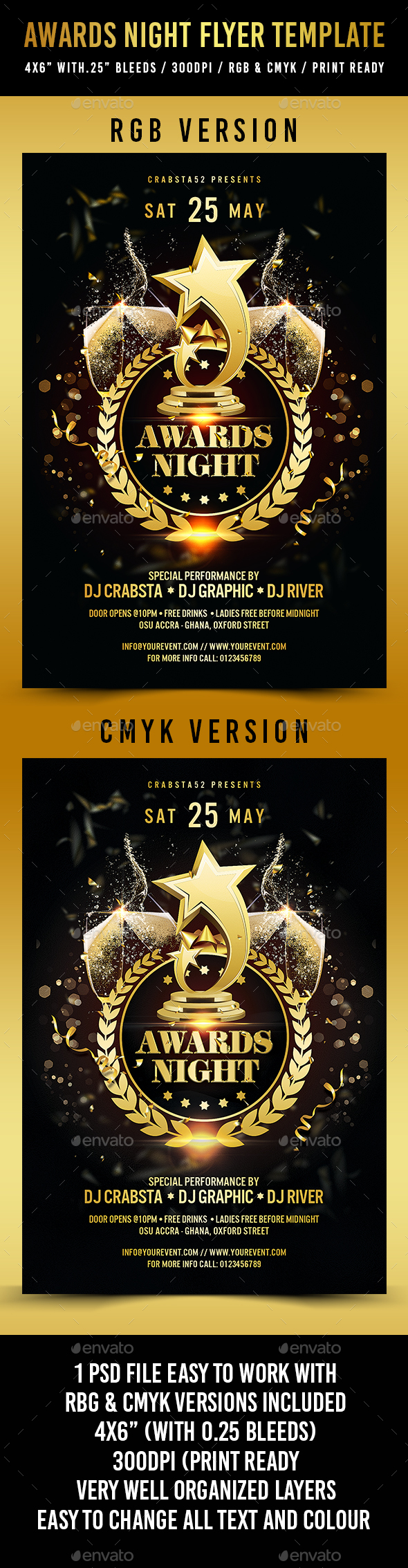 Awards Night Flyer Template - Events Flyers