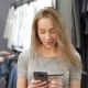 Woman Holding a Credit Card and Using Mobile Phone for Online Shopping. - VideoHive Item for Sale