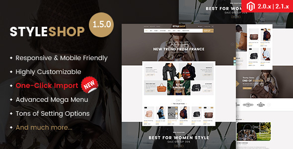 Styleshop - Responsive Multipurpose Magento 2.1.x Theme - Shopping Magento