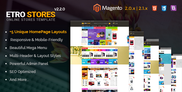 Etrostore - Multipurpose Responsive Magento 2 and 1 Theme - Shopping Magento