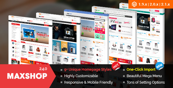 Maxshop – Premium Magento 2 and 1.9 Store Theme