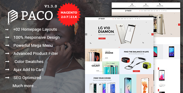 Paco - Responsive Multi-Purpose Magento 2 Theme