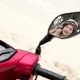 Woman Putting Off Helmet - Reflection in a Mirror - VideoHive Item for Sale