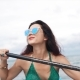 Pretty Girl in Sunglasses Rowing in a Kayak - VideoHive Item for Sale
