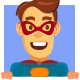 Superhero Cartoon Mascot - GraphicRiver Item for Sale