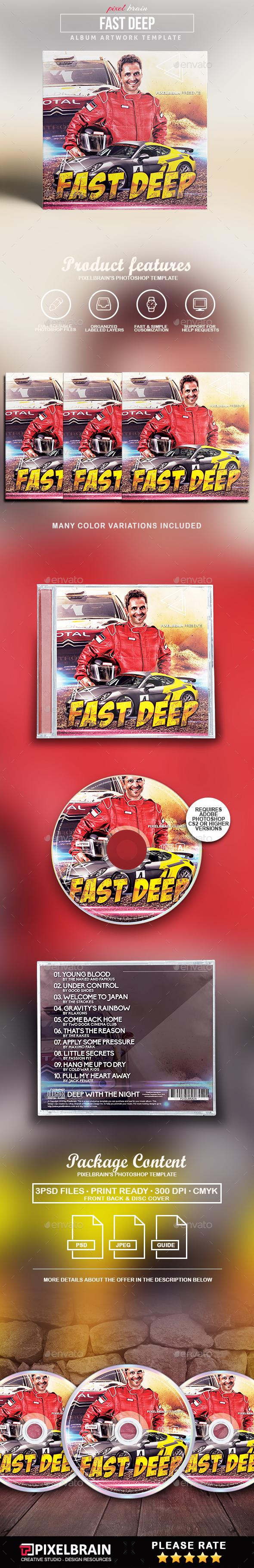 Fast Deep CD Cover Artwork - CD & DVD Artwork Print Templates