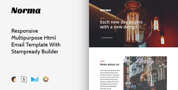 Norma – Responsive Multipurpose Email Template + Stampready Builder