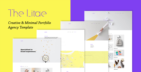 The Litae - Creative & Minimal Portfolio / Agency Template