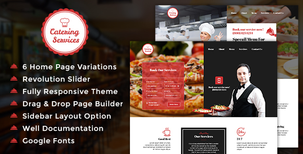 Chef - Restaurant - Catering WordPress Theme - Restaurants & Cafes Entertainment